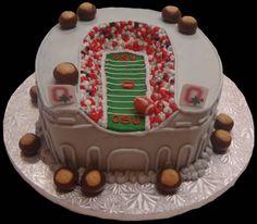 Ohio State Buckeyes cake!  Go Bucks!