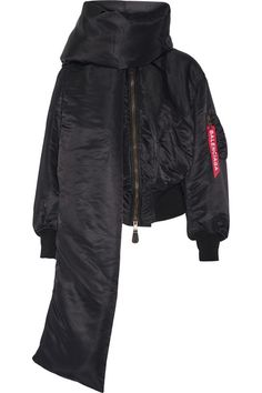 Balenciaga - Swing Shell Bomber Jacket - Black - FR38