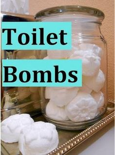 DIY Toilet Bombs - Deodorize & Kill Bacteria
