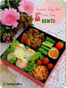 Cooking Gallery: Doejibulgogi - Korean Spicy Stir-Fried Pork Bento