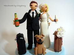 We have ordered this cake topper, but with a pilot uniform and our cat!!  Can't wait to see it :)