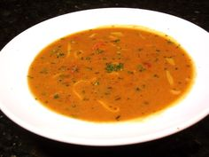 Cream of Tomato Soup with Herbs and Cheese
