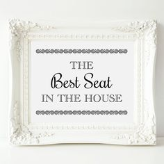 Bathroom Sign The Best Seat In The House Bathroom by OrchardBerry