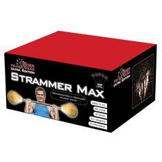 Strammer Max: Gefächerte #Feuerwerksbatterie mit extra fettem Wirbelaufstieg zu silber-blauen Buketts #Feuerwerk, #Röder, #Silvester, #Onlineshop