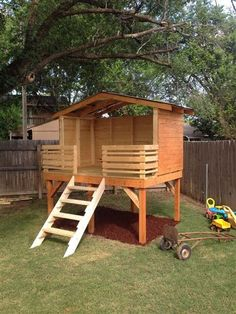 Dad Takes An Empty Yard And Transforms It For His Toddler Son. The Results? Backyard  FortBackyard IdeasBackyard PlayhousePlay ...