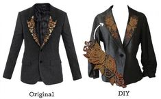 Get the look of this Dolce & Gabbana $3000 jacket for way less with an easy embroidery upcycle