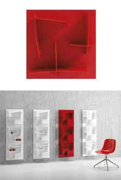 Wall-mounted modular #bookcase ARIGATÒ by Infiniti by OMP Group | #design Marcello Ziliani @Infiniti Ompgroup