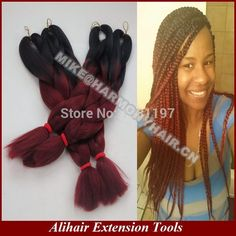 I like this duo-tone braiding hair, the best one I've seen today:-)
