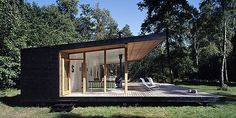 Summer House by Christensen & co. Arkitekter - Contemporary World Architecture Casas Containers, Cabins In The Woods, Cabana, Home Fashion, Modern Architecture, House Ideas, Exterior, House Design, House Styles
