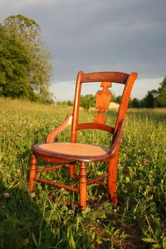 victorian caned side chair