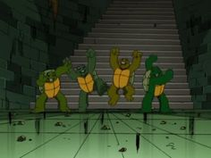 The little ninja turtles from the 2003 series (Animation is beautiful on Tumblr)