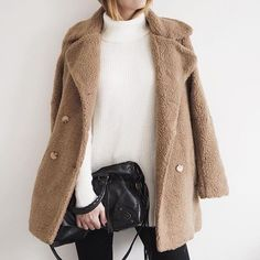 We love a good teddy coat. // Follow @ShopStyle on Instagram to shop this look