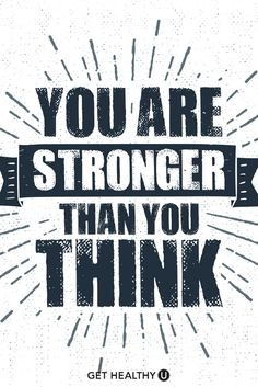 """Hand drawn inspirational label with textured ribbon vector illustration and """"You are stronger than you think"""" lettering. Great Quotes, Quotes To Live By, Life Quotes, Epic Quotes, Short Quotes, Success Quotes, Positive Quotes, Motivational Quotes, Inspirational Quotes"""