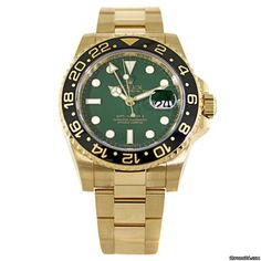 Rolex GMT Master II Green Index Dial for $24,800 for sale from a Trusted Seller on Chrono24