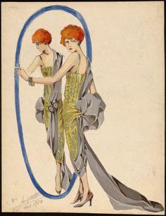 Design (looks like Poiret to me), 1924, Les Arts Decoratifs