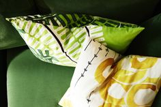 Use bright fabrics from our STOCKHOLM range to give your cushions a colourful and tasteful makeover.