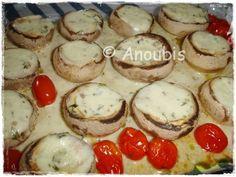 'Gemüsebeilage - Gefüllte Champignons'