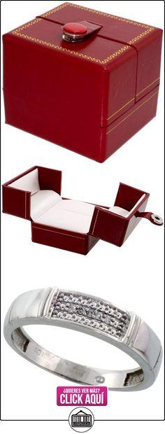 Revoni - Juego de alianzas de oro blanco  ✿ Joyas para hombres especiales - lujo ✿ ▬► Ver oferta: http://comprar.io/goto/B005NW567M