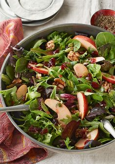 Apple-Cranberry Salad Toss – Apples and dried cranberries make this mixed green salad recipe sweet and tart. Serve at party—or any night you want the family to feel extra-special!