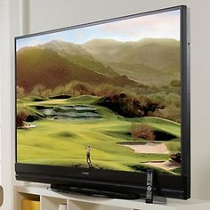 """For our Dream Bedroom! Mitsubishi 82"""" 3D DLP Home Cinema 1080p HDTV with Wi-Fi Adapter at HSN.com. #HSN #HouseBeautiful"""
