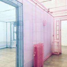 entering the world of Do ho suh Do Ho Suh, Set Design Theatre, Colour Schemes, Colour Combinations, Color Palettes, Artistic Installation, Retail Interior, Pink Room, Creative Studio