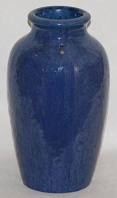Fulper Pottery  -- Blue Vase