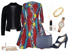 Cette robe Sika Designs fait assurément très professionnel et c'est surtout dans un cadre professionnel que nous l'imaginons porter. Nous vous proposons 2 looks: un avec une veste ceintrée pour en rajouter à l'allure pro, l'autre avec une ceinture à la taille pour mettre encore plus en valeur la coupe de la robe. Robe Sika ...
