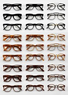 Eyewear repeat in same colour or shape