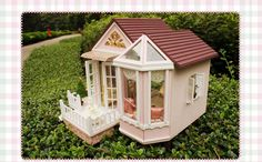 Kits dream DIY Wood Dollhouse with light miniature and Furniture large villa #CUTEROOM