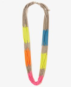 Layered Neon Accent Necklace | FOREVER21 - 1000047535