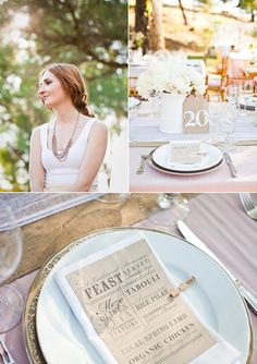 love the design of these kraft paper menu cards #camillestyles