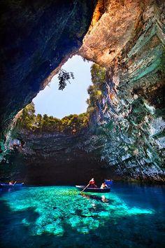 Melissani Cave, Kefalonia Greece © Unknown