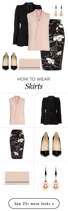 """outfit 5123"" by natalyag on Polyvore featuring River Island, Alexander McQueen, Whistles, Christian Louboutin and Boohoo"