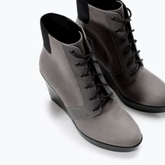 Image 5 of LACE-UP WEDGE BOOTIES from Zara
