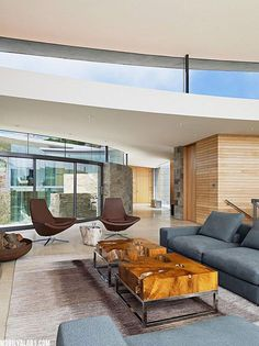 Living Room At The Otter Cove Residence By Sagan Piechota Architecture Photography By Joe Fletcher