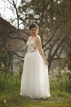 Hopefully Romantic Designs by Katherine: New Spring Wedding Gown, Custom Creations Made wi. Rustic Wedding Gowns, Woodland Wedding, Chic Wedding, Wedding Dresses, Green Wedding, Spring Wedding, Ballet Wedding Shoes, Wedding Styles, Wedding Ideas