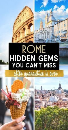 This is my list of Rome Hidden Gems you need to add to your itinerary to enjoy the best Rome has to offer when quarantine is over and it's safe to return to Rome. These are Rome best kept secrets! I will take you to all my favorite places in Rome... | Top unusual things to do in Rome | lesser known things to do in Rome | secret spots in Rome you didn't know existed | what to do in Rome that is less touristy | Rome travel tips | Rome travel guide | Secrets of Rome | Rome secrets | #rome #italy