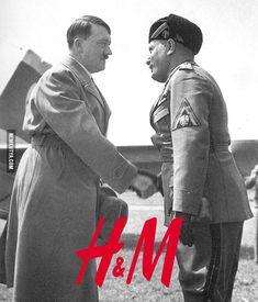 H & M.
