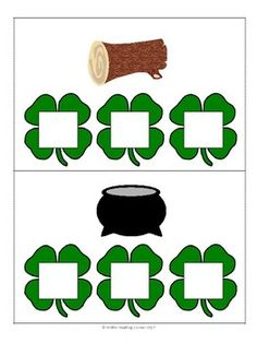 Build CVC words by putting the  letters on top of the shamrocks. Then record the words on the CVC words recording tool.