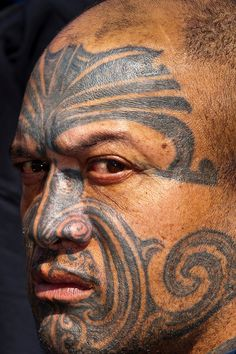 Maori man with ta moko (facial tattoo) ~his face just says PRIDE and his eyes say DON'T MESS WITH ME i love that ~MO~