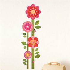 Décalques muraux et toise - Fleurs