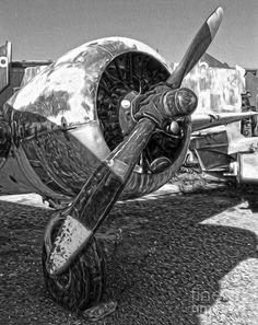 fdb9713edb1 Airplane Propeller - 07 Painting - Airplane Propeller - 07 Fine Art Print  Aviation Art