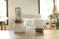 Mushroom lamp is an atmosphere lamp designed for charge your Apple devices  in daily life.
