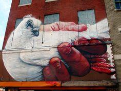 Gaia for Open Walls Baltimore by LoisInWonderland, via Flickr