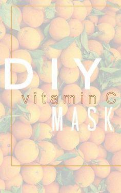DIY Vitamin C mask... - Jenni Raincloud #FaceMaskForBlackheads Homemade Face Masks, Homemade Skin Care, Vitamin C Mask, Charcoal Mask Peel, Skin Tightening Mask, Tea Tree Oil For Acne, Lighten Dark Spots, Face Mask For Blackheads, Happy Skin