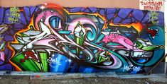 #Graffiti wall in #Chicago.  This is some solid talent!  #respect