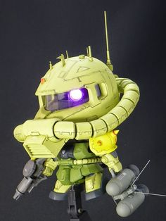 Custom Build: SD BB Senshii Zaku II + 1/35 Zaku II Head - Gundam Kits Collection News and Reviews