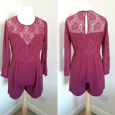 Oasis Playsuit Pink Fuschia Lace Size.14 Lace Bows, Pink Lace, Pink Playsuit, Frill Shirt, Oasis Dress, Sale Uk, Pink Brand, Lipsy, Summer Dresses For Women