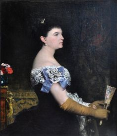 """″La Marquesa de Escombreras"""" by Jules-Elie Delaunay, 1889"""