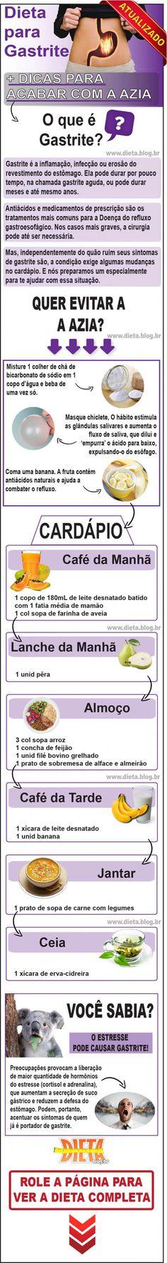 Dieta para Gastrite + 7 Habitos Diarios para Acabar com Azia